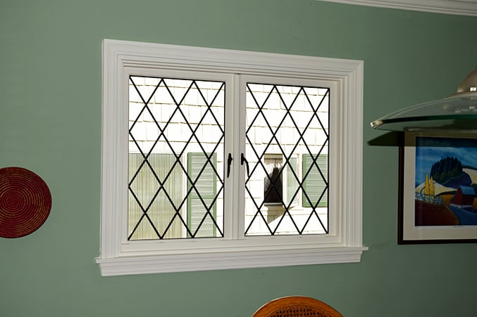 Marvin French Casement Window With Diamond Leaded Glass