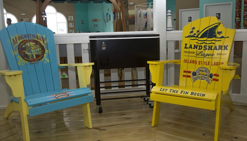 We carry Margaritaville Adirondack chairs in 4 fun colors! 6 ...