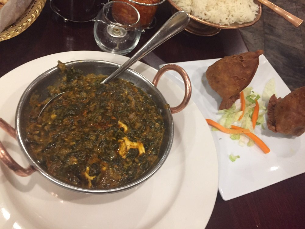 Saag paneer spicy yelp - Kashmir indian cuisine ...