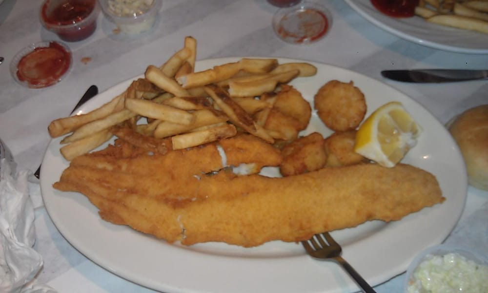 Fried Haddock and Scal...