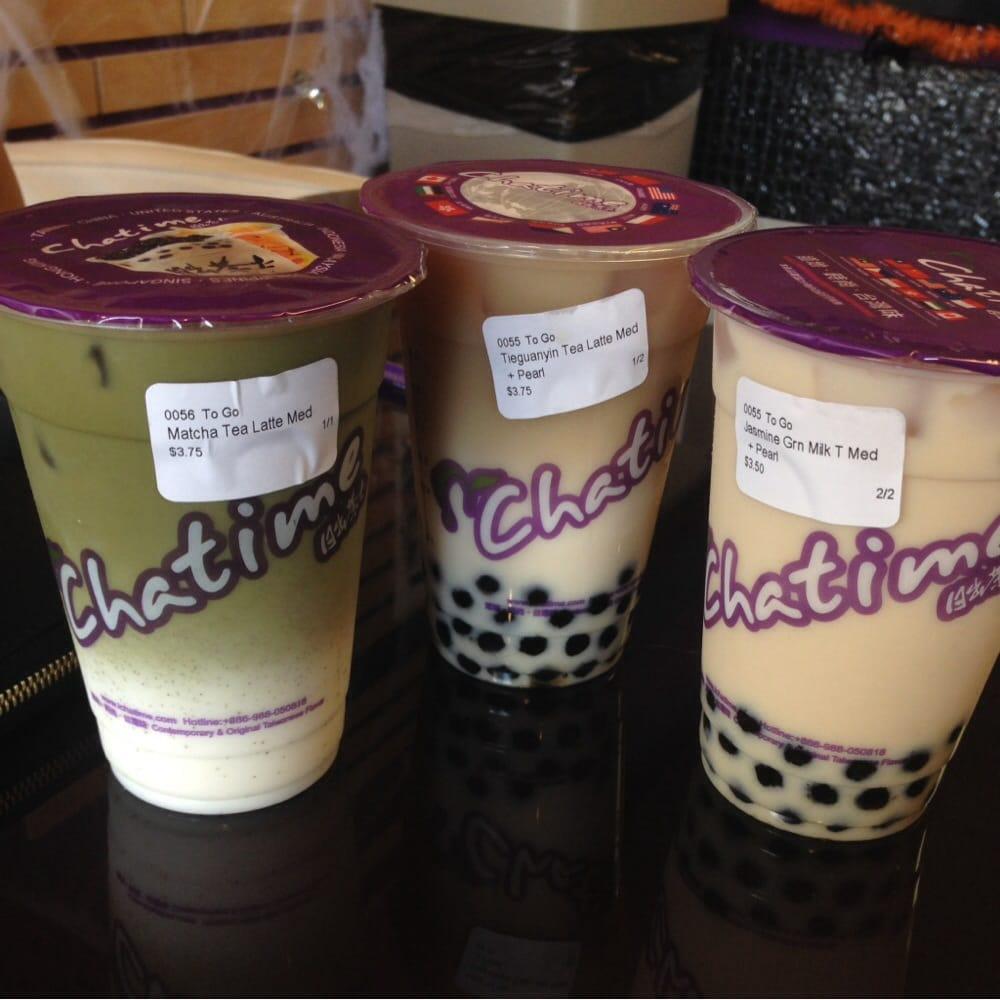 Matcha Tea Latte X Tieguanyin Tea Late X Jasmine Green
