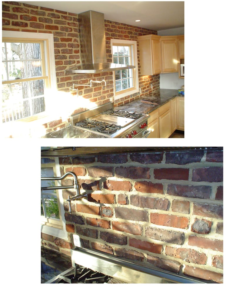 Thin Brick Kitchen Backsplash / Hood Cleaning - Yelp