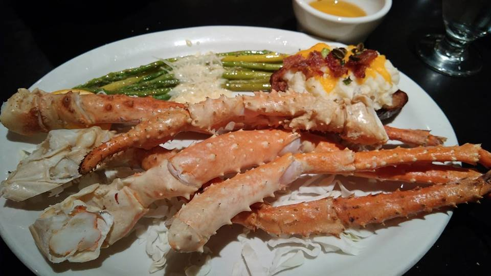 King Crab Legs Twice Baked Potato Parmesan Coated Asparagus Yelp