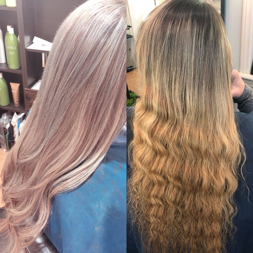 Brighten Her Blonde And Used A Silver Toner To Create This Icey