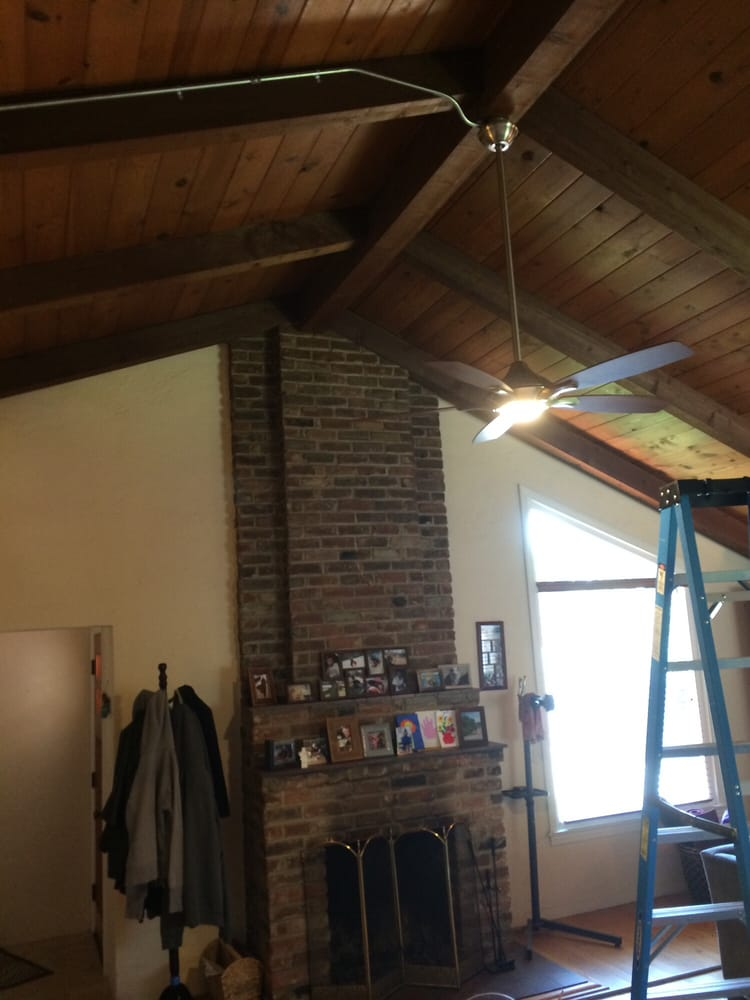 Photo Of Charger Electric Orangevale Ca United States Ceiling Fan Installation On