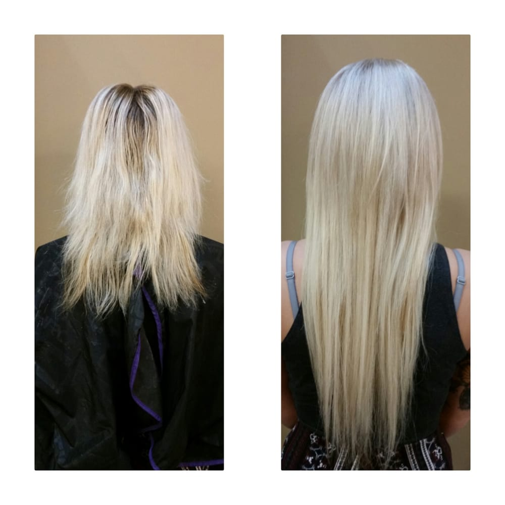 Before And After Olaplex Blonde Me Cinderella Hair Extensions Yelp