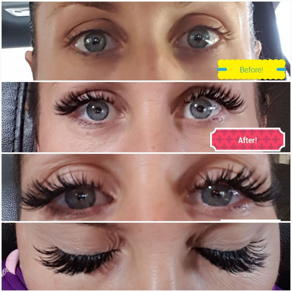 b854d8b683e Before and after my lovely lash extensions with Bella. I got Classic ...
