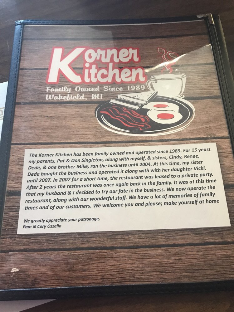 Korner Kitchen: 1207 US Hwy 2, Wakefield, MI