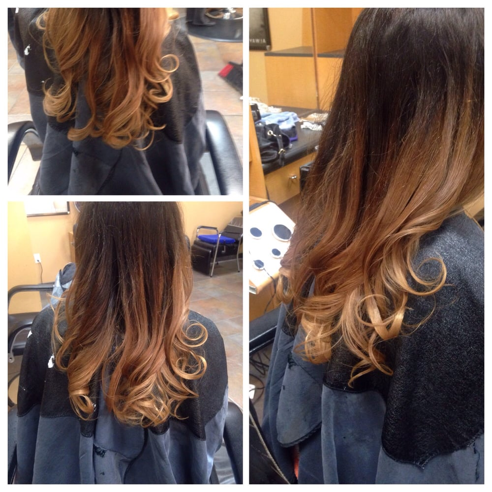 From Dark Brown Red To A Beautiful Carmel Balayage Ombre By Katie