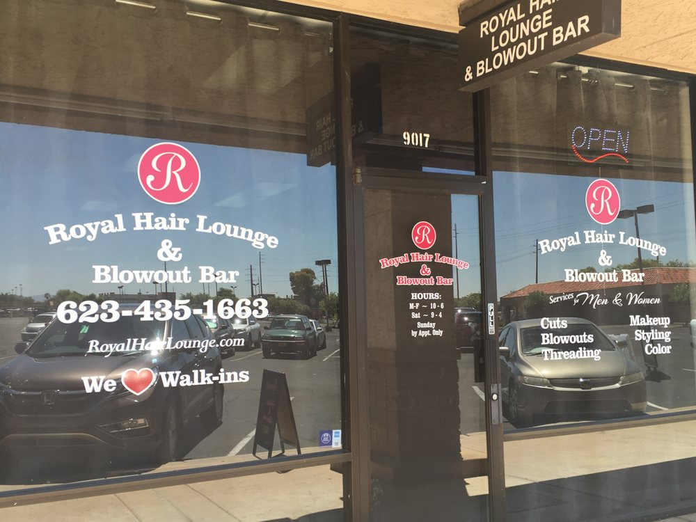 Royal hair lounge blowout bar hair salons 9017 n for A salon on 51st ave