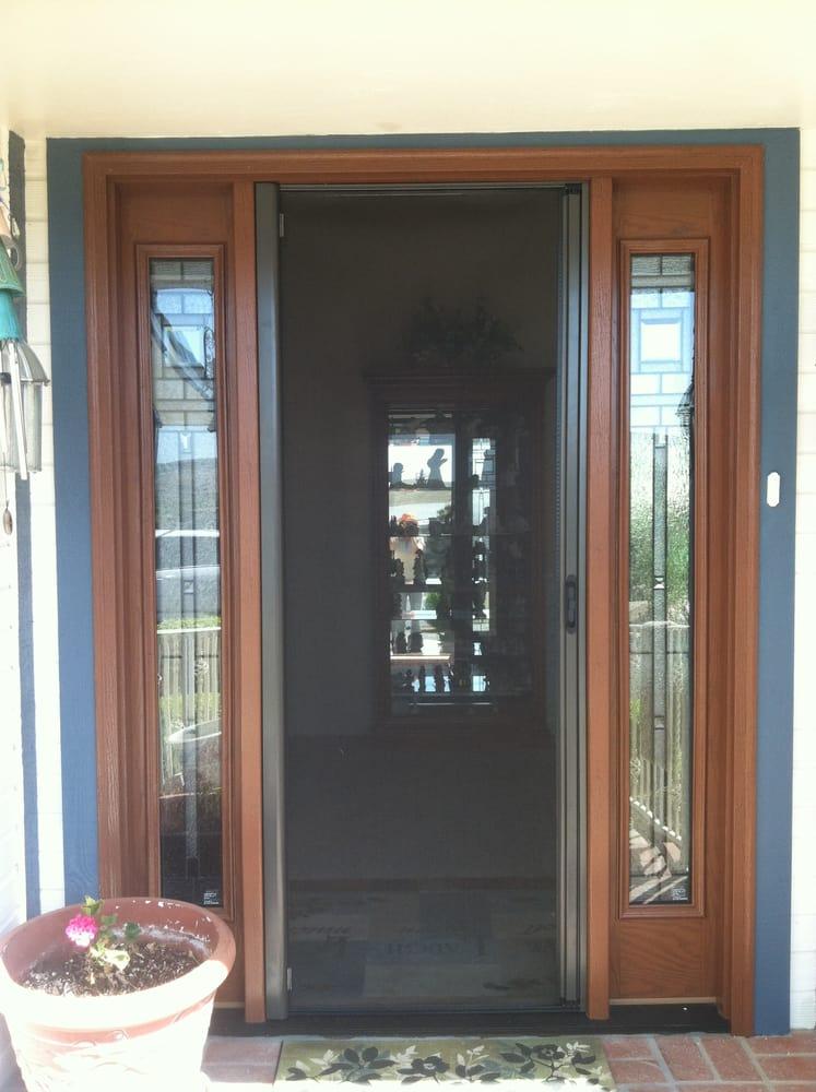 Bronze retractable roll away screen door yelp for Roll away retractable screen doors