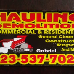 Hauling demolition demolition services los angeles ca photo of hauling demolition los angeles ca united states business card reheart Images