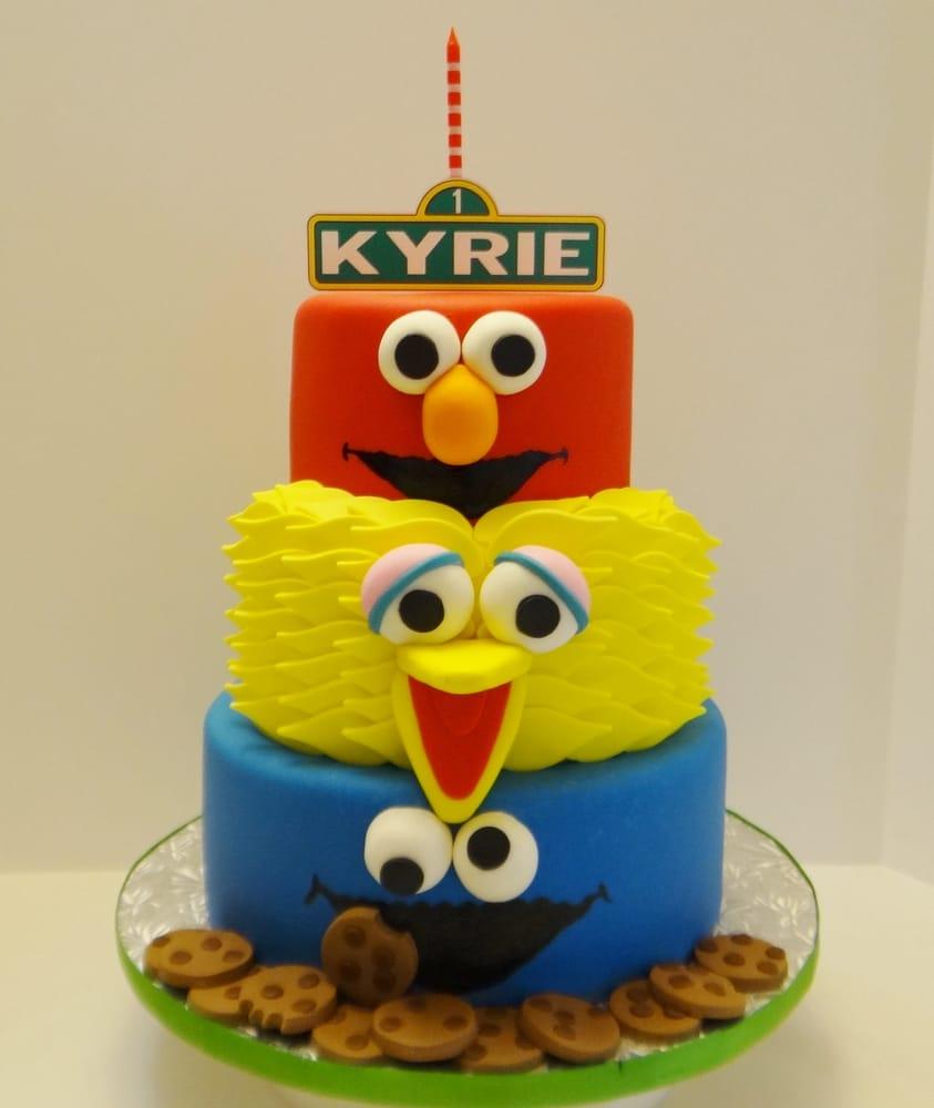 ... birthday? This Sesame Street cake features Elmo, Big Bird, and Cookie