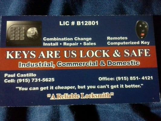 Keys Are Us Lock Safe Safe Stores El Paso Tx
