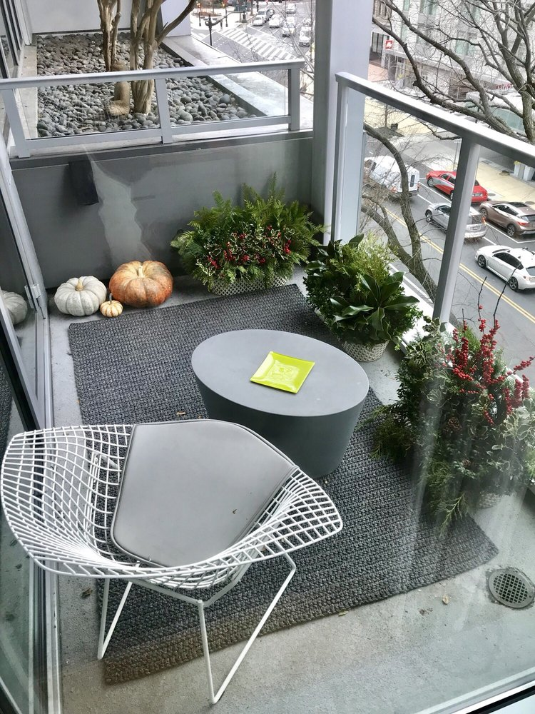 The Three Planters With Holiday Ivy Fit Perfectly On Our Terrace Yelp