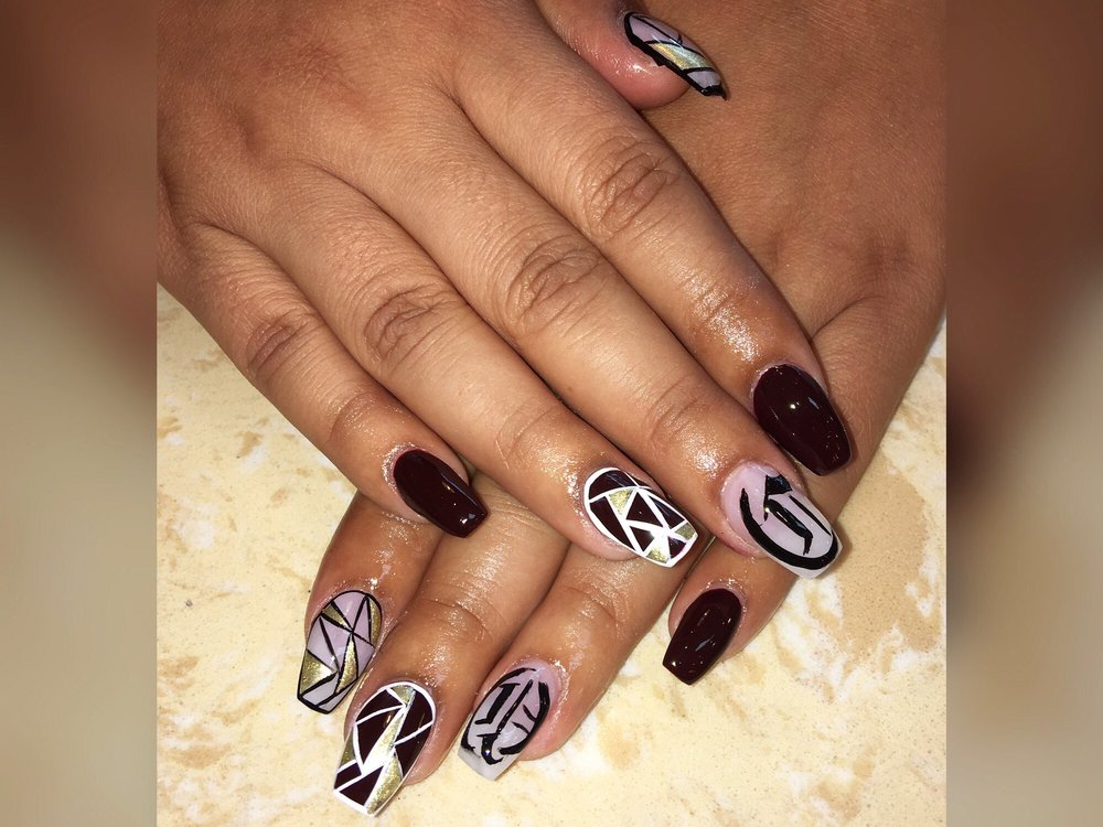 Full Set And Design By Mimi Abstract Art And Olde English Letters