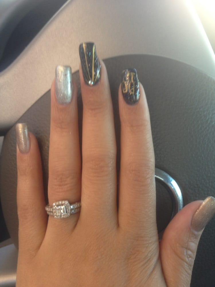 New years nails a little early hehe yelp for Euphoria nail salon