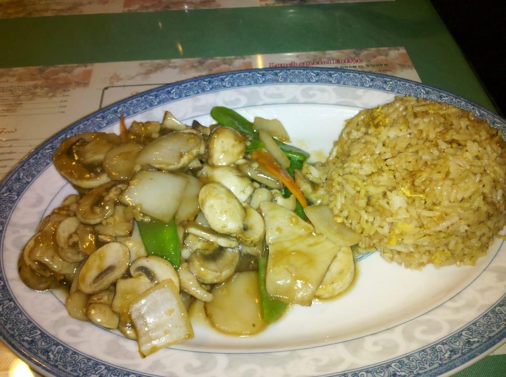 Moo Goo Gai Pen With Fried Rice Lunch Yelp