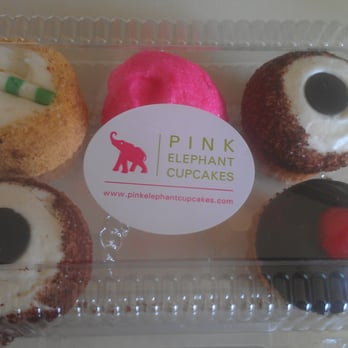 pink elephant cupcakes