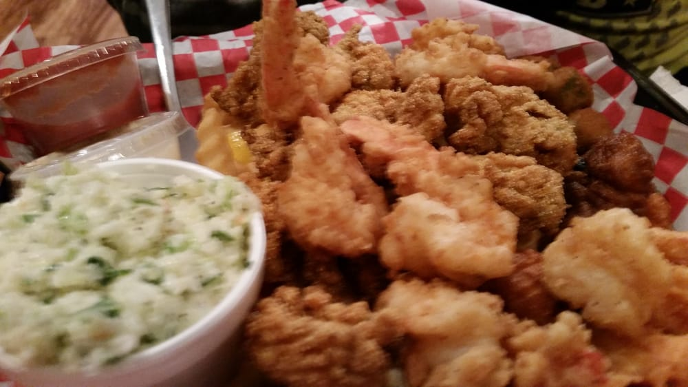 Shrimp and oyster basket yelp for Fish river grill gulf shores