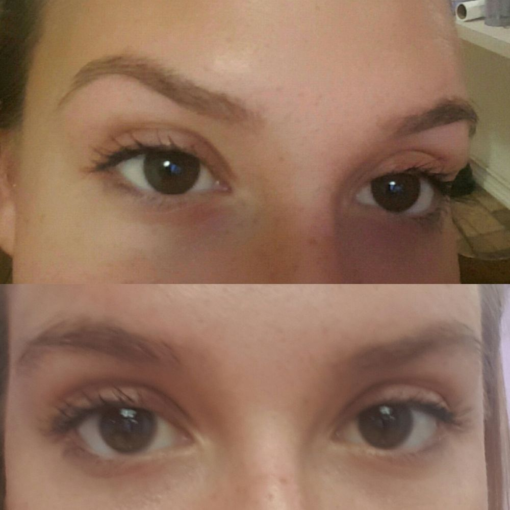 Eyebrow Threading 7 Before On Bottom And After On Top I Just