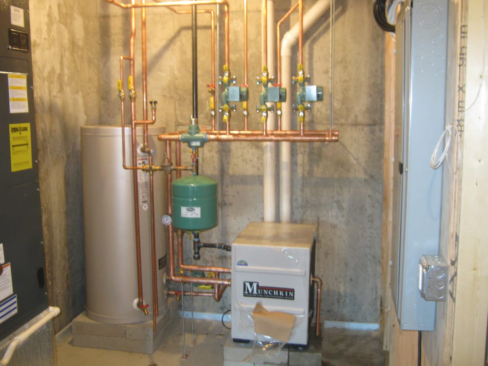 95% Efficient Munchkin boiler with 40 gallon indirect water heater ...