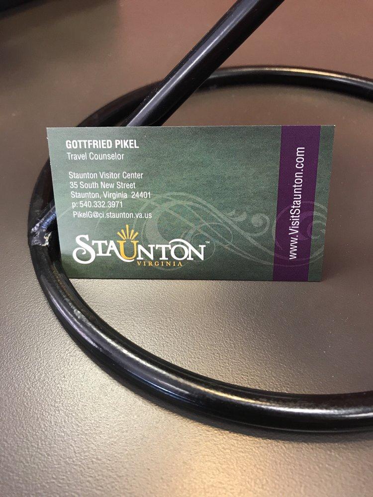 Staunton Visitor Center: 35 S New St, Staunton, VA
