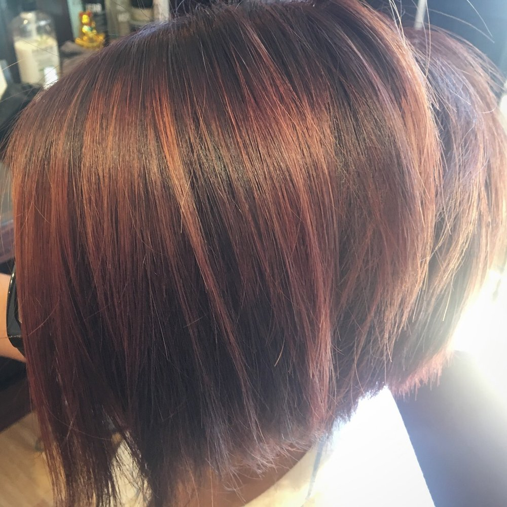 Rose Gold Balayage On Short Hair Yelp
