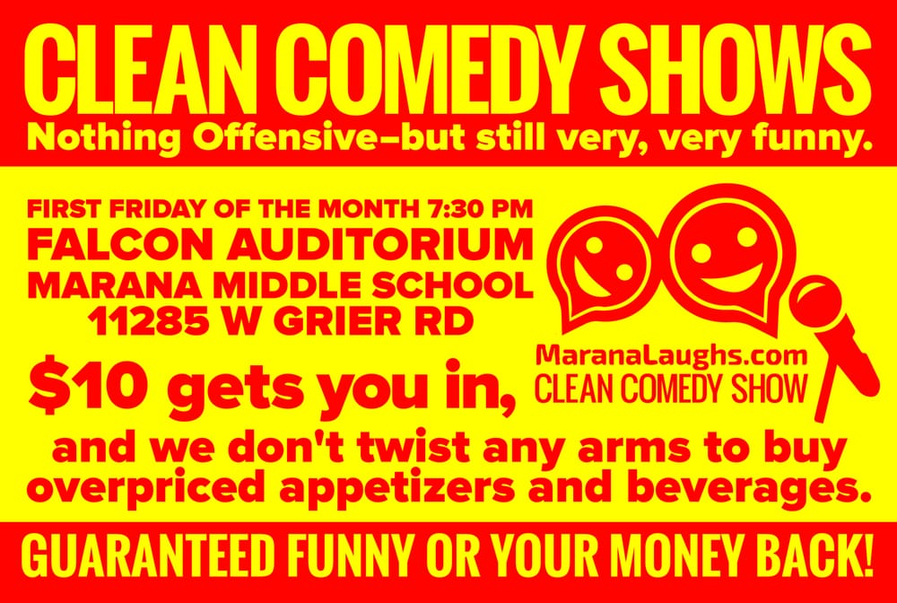 Marana Laughs Clean Comedy Shows: 8000 N Silverbell Rd, Tucson, AZ