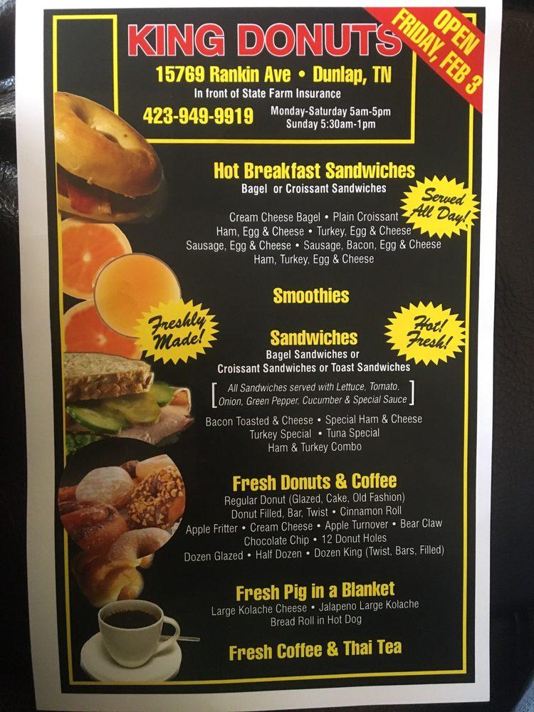 King Donuts: 15769 Rankin Ave, Dunlap, TN