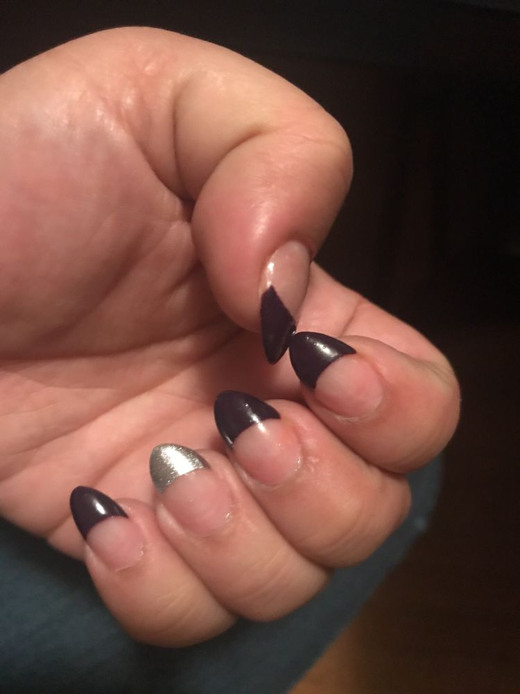 French tip oval nails by Wendy - Yelp