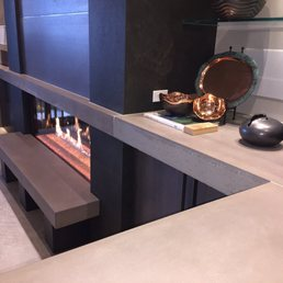 Photo Of Dudley Concrete Design   Colorado Springs, CO, United States.  Concrete Fireplace