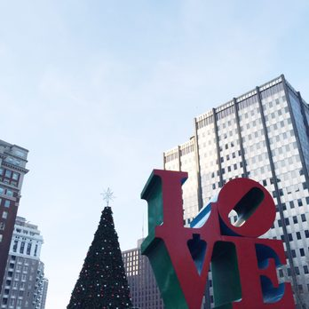photo of christmas village in philadelphia philadelphia pa united states love park
