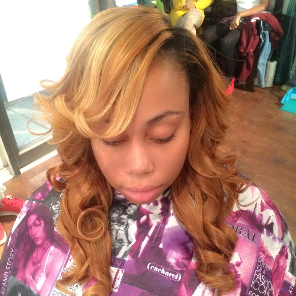 Weave Install W Partial Leave Out Hair From The Wavecustom Color