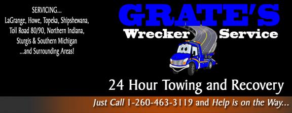 Grate's Wrecker Service: 1485 N State Rd 9, Lagrange, IN