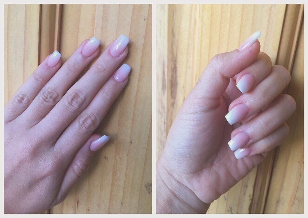 French ombre acrylic nails designed by Jenny. My nails weren\'t too ...