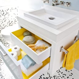 cool black white yellow accent bathroom   2010 Decorator Showcase, San Francisco Modern Bathroom ...