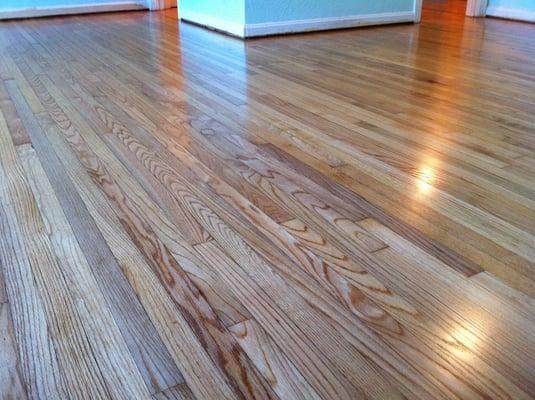 Refinished 1949 Red Oak Hardwood Floors Yelp