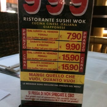 999 - Cucina fusion asiatica - Viale Tibaldi 8, Porta Romana, Milano ...