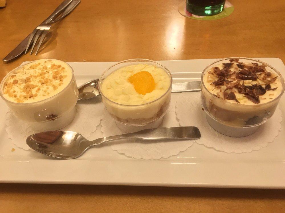 Dolcini mini dessert trio with amaretto tiramisu - Olive garden reservations policy ...