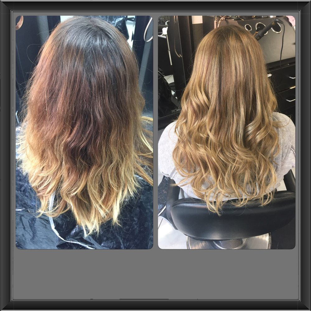 Balayage And 16 Inch Hair Extensions For Volume And A Bit Length Yelp