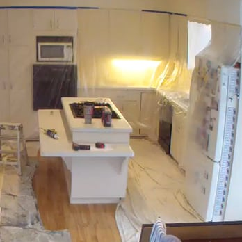 Photo Of Integrity Painting Services   Madison, WI, United States. Using  Plastic Sheets
