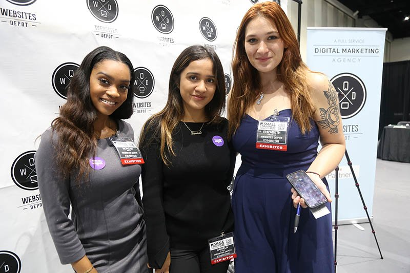 Morgan, Daniela & Liz at the Small Business Expo San Diego