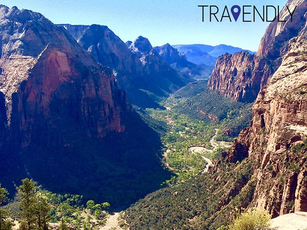 Zion National Park View From The Top Of Angels Landing Yelp