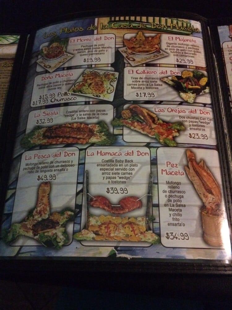 Los platod de la casa de don maceta family style portions - La casa de la maceta ...