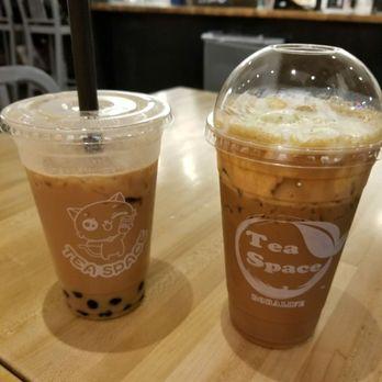 Photo of Tea Space Sunset Park - Las Vegas, NV, United States. Hokkaido milk tea w/Boba & Okinawa coffee (the best!)