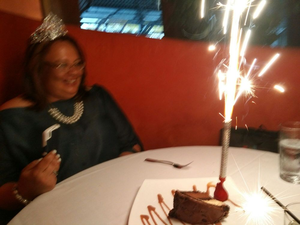 I Gave Her A Birthday Cake And Let Sparkling Candle On Top Of It
