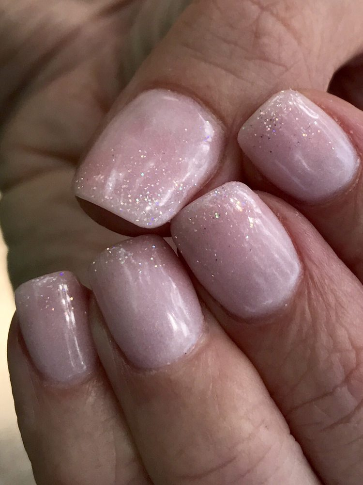 SNS nails with glitter faded tips - Yelp