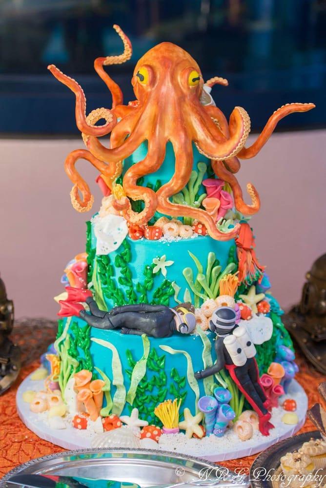 Scuba Wedding Cake