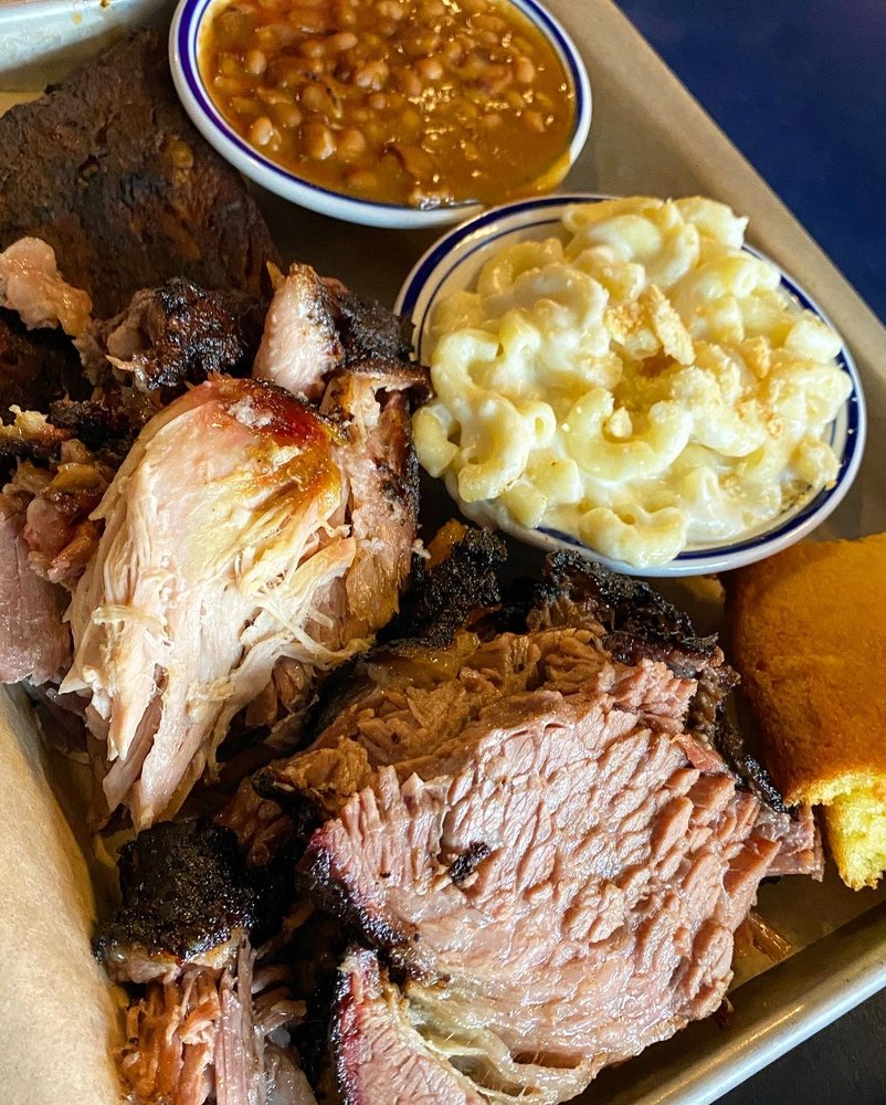 Food from Smokestack Urban Barbecue